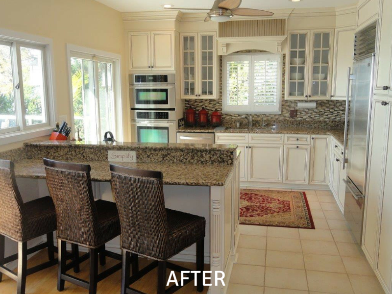 Cabinet Refacing Pictures - After