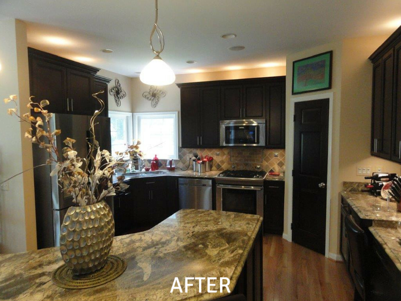 Cabinet Refinishing Photos - After
