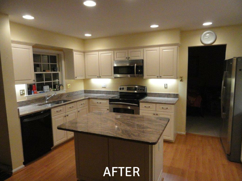 Cabinet Refinishing Pictures - After