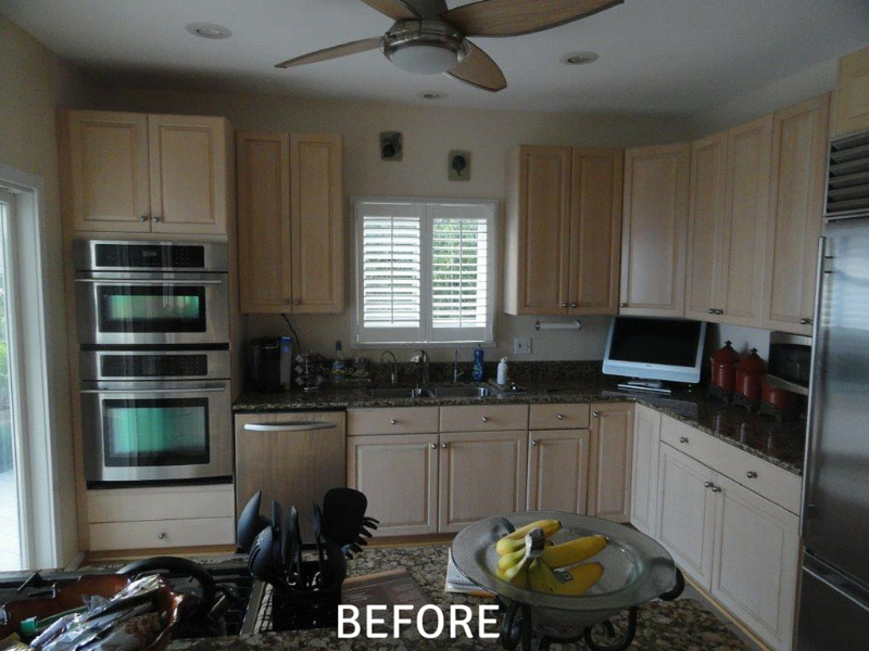 Cabinet Refacing Pics - Before