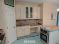 Kitchen Cabinet Refacing - Before
