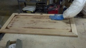 Cabinet Refinishing Process - Hand Stripping & Sanding